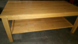 Solid wood coffee table 35$