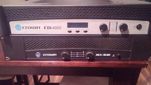 Crown cdi 4000 and xls 402 amps