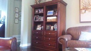 Beautiful Mennonite-made, solid Cherry entertainment unit