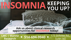 Living with Insomnia? Join a research study today!