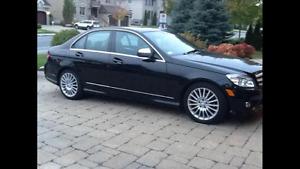 Mercedes C230 2008 noir sur noir