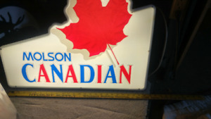 MOLSON CANADIAN BEER SIGN.