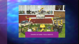 USED OR NEW TOOLS FOR HOME WORKSHOP