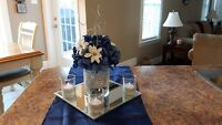 Navy and Silver Wedding Decor