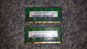 2x 1GB Hynix DDR2 2Rx16 PC2-5300s 667MHz Laptop Ram