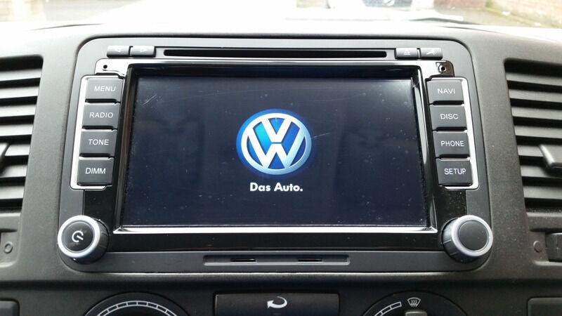 brand new vw sat nav android bluetooth car stereo dvd golf. Black Bedroom Furniture Sets. Home Design Ideas
