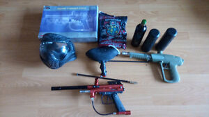 Spider Compact Paintball Gun + accessories