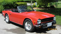 1976 Triumph TR6 sports car