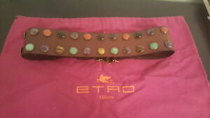 Beautiful wide leather belt for sale!