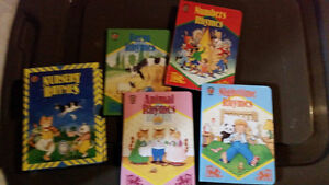 4 Nursery Rhyme Books with Sliding case