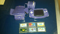 Game Boy Advance + 6 games + Rumble Kit