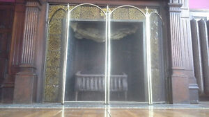 Old fashioned fireplace gate