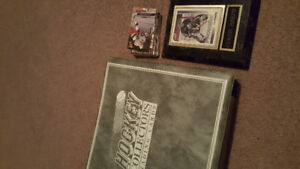 Hockey Cards and binder