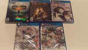 Brand new factory sealed PS4 games