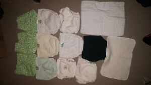 10 cloth diapers