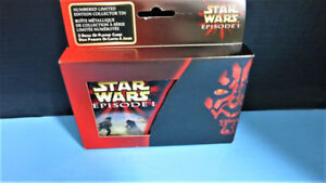 Star Wars Episode 1 Limited Edition Collector Tin with  2 Decks