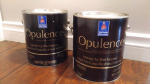 2 Gallons of paint from SHERWIN WILLIAMS Banana Cream colour