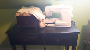 Sewing machine and table and chair