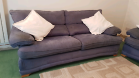 Two and three seat settie contour blue