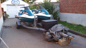 FIRST $3000 cash firm takes 2x 3seater jetski's & double trailer