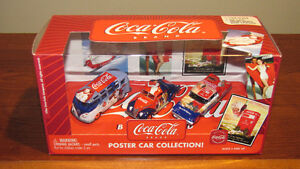 Coca-Cola Johnny Lightning 1:64 Diecast Poster Car Set REDUCED