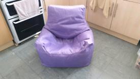 Children's Purple Bean Bag Chair
