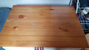 Older Ikea Folding Table + 3 Stools