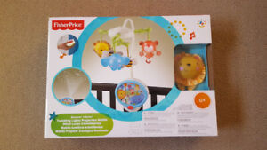 Crib Mobile Twinkling Lights Projection Mobile