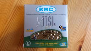 Brand New KMC X11SL Gold 11 Speed Bike chain