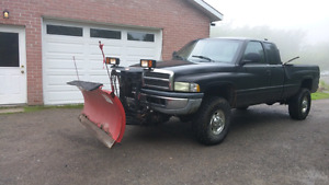 2001 Dodge Ram Truck with plow blade