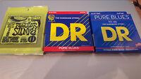 Cordes DR String Pure Blues PHR-10 et Ernie Ball 2221 0.10