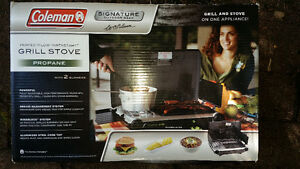 New Coleman Grill Stove