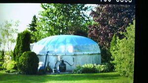 Piscine 21pi hors terre dome blueyeur accessoires sans for Aspirateur piscine kijiji