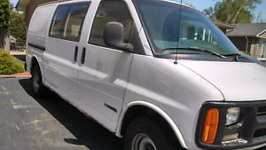 Chevrolet express cargo work van