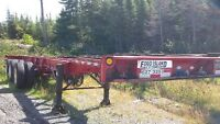 SALE: 40-ft to 53-ft extendable chassis' & two 20-ft chassis'