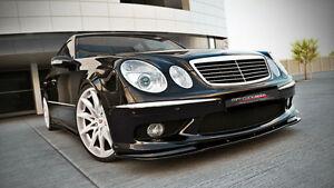 carbon Spoilerlippe Frontspoiler Spoiler für Mercedes E Klasse W211 AMG ABS