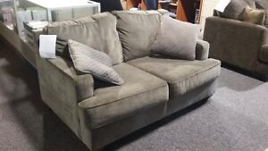 ASHLEY YVETTE STEEL LOVE SEAT $299