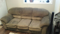 Microfiber Microfibre Couch and Love Seat