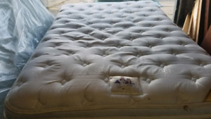 Queen Pillowtop Mattress w/ Wooden Frame 4 sale - FREE DELIVERY!