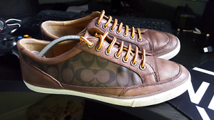 Mens Coach leather sneakers Sz 12