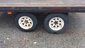 8x14 Dual Axle Deckover Flatbed Trailer Kitchener / Waterloo Kitchener Area image 2