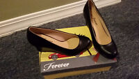 Brand New Black Wedge Shoes Size 5 or 6