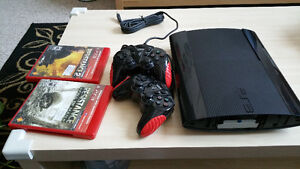Ps3 Super Slim 500gb works great! one controller.