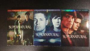 Supernatural Complete Seasons 1-3 DVDs