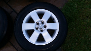 4 mags Toyota corolla + pneus d'ete Yokohama 195/65/15