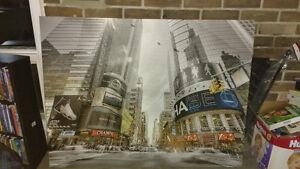 NY city canvas