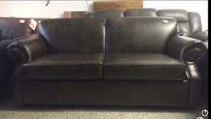 SOFA BED FABRIC OR LEATHER WITH DOUBLE MATTRESS MADE IN CA.