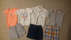 Toddler boys gently used clothes (12 months)