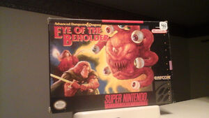 Snes: Dungeons & Dragons Eye of the beholder for sale London Ontario image 1