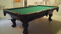 Regulation size pool table